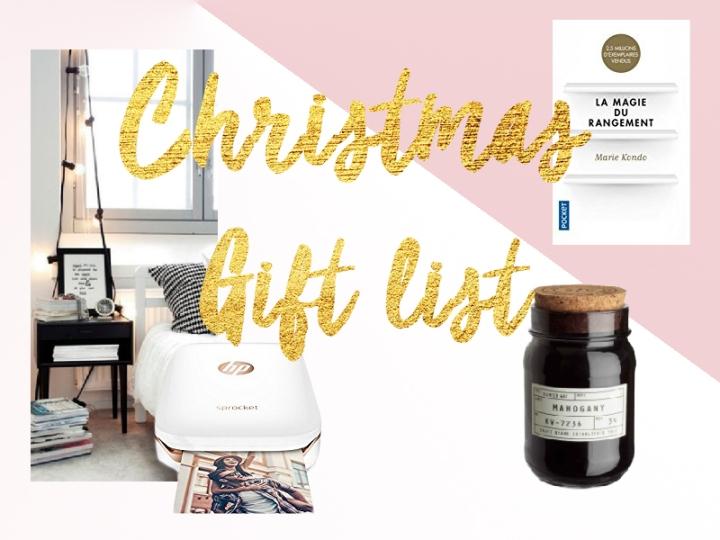 Christmas gift list 2017